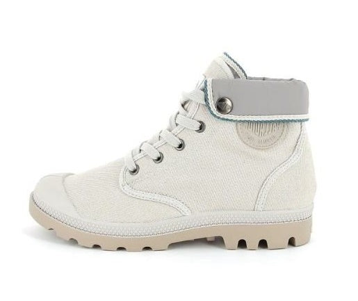 Palladium Hi Sock TFL F Women's Canvas Hiking Boots in Gray Morn