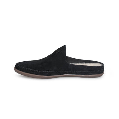 UGG Slip on TAMARA Mule Slippers CLOGS SUEDE Black Women's Size 5