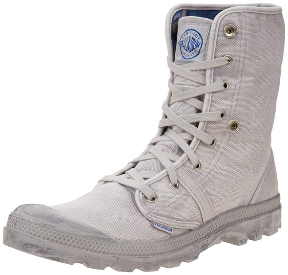 PALLADIUM Pallabrouse Baggy Vapor/Metal Men's Canvas Hiking Combat Boots