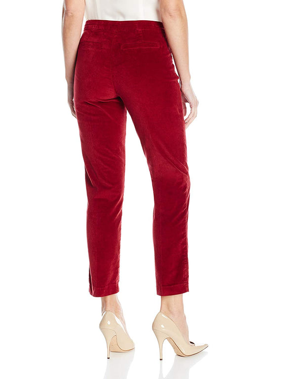 POINSETTIA RED Velveteen ANKLE NYDJ $134 Not Your Daughters Jeans