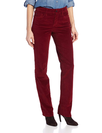 NYDJ Not Your Daughters Jeans Marilyn Straight Leg Pants in Velvet Cabernet