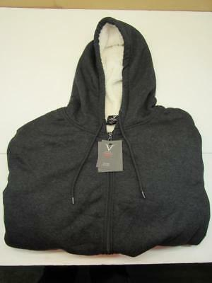 Verde Black Men's Fleece Lined Hoodie Warm and Comfortable Front Zip