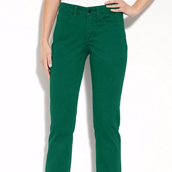 NYDJ Not Your Daughters Jeans Marilyn VIRIDIAN TEAL Straight Leg Petite