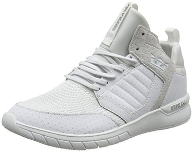 Supra Men's Method White-White Leather Mesh Sneaker Shoes Skateboarding