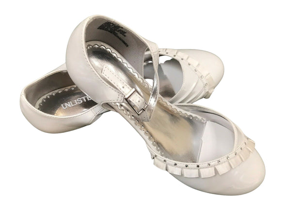Kenneth Cole Unlisted Young Face Girl White Patent Tap Shoes 5 M