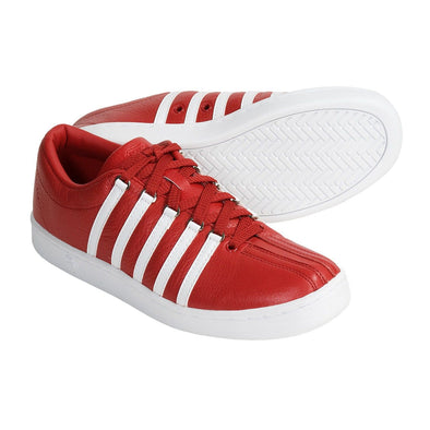 K-SWISS The Classic Remastered Men's Leather Red/White Low Top Sneakers