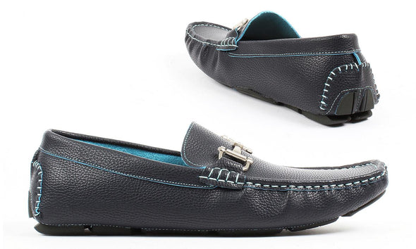 TONY'S CASUALS Navy Driving Loafers Moccasins Men's Size 9.5
