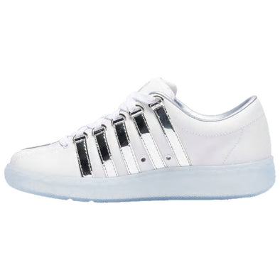 K SWISS Classic 2000 LE Men's Leather Tennis Shoes in White/Chrome