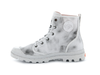 Palladium Pampa Recamo OC Unisex Lace Up Ankle Hiking Combat Boots in White/Coral