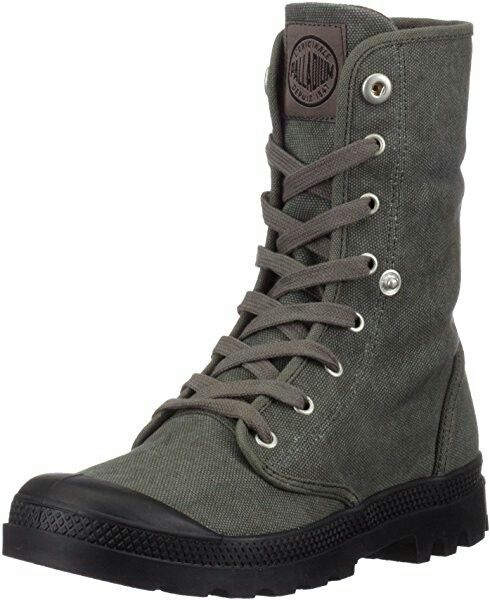 PALLADIUM Baggy Men's Fold Down High Top Sneaker Hiking Boots Stonewash Metal/Black in a Variety of Sizes