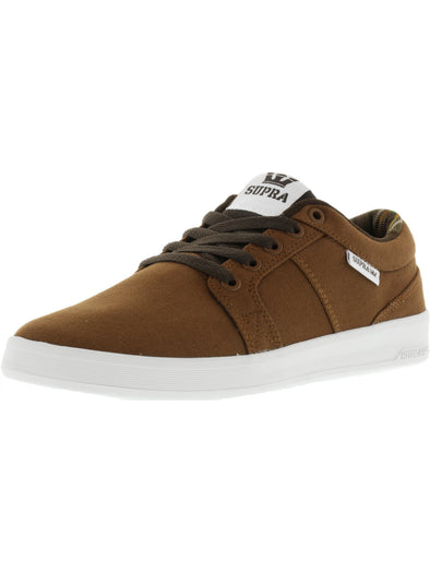 Supra Ineto Men's Brown/White Athletic Skate Shoes