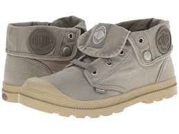 Palladium Baggy Low LP Women's Hiking Ankle Canvas Boots in Concrete/Putty
