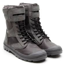PALLADIUM RC Strap Tactical RC Charcoal Men's Lace Up Combat Hiking Boots