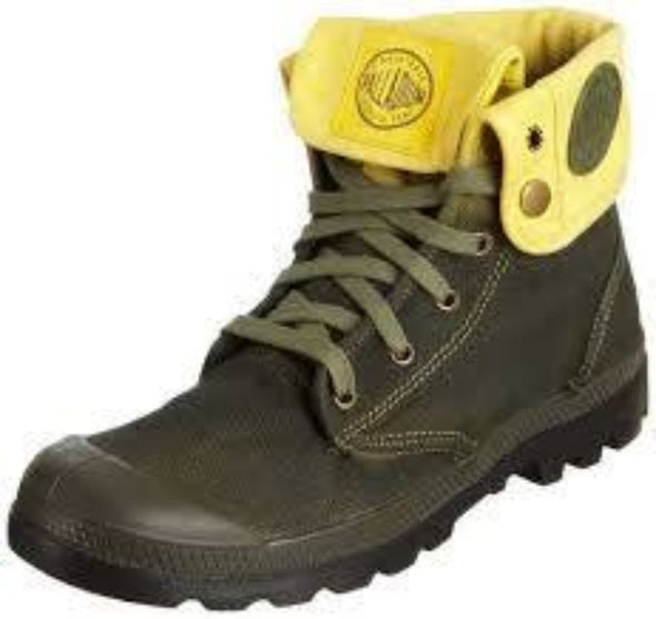 PALLADIUM Baggy Lite Green/Aspen Gold Fold Down Lace Up Combat Hiking Boots
