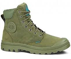 PALLADIUM Pampa Cuff WP Lux Olive Drab Leather Unisex Lace Up Ankle Combat Hiking Boots