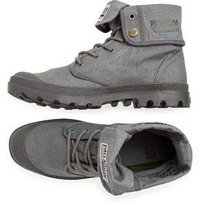 PALLADIUM Baggy Army Training Camp French Metal/Forged Iron Unisex Fold Over Canvas Hiking Boots