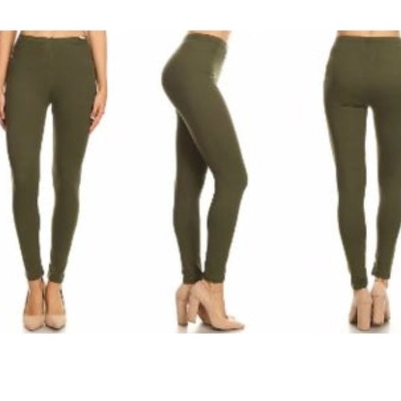 JVINI Women's High Waist Workout Yoga Leggings in Army Green