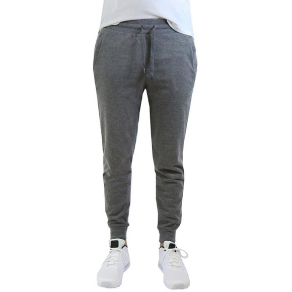 Verde Men's Dark Grey Cuffed Jogger Sweatpants