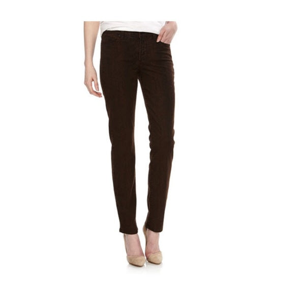 NYDJ Not Your Daughters Jeans Ganache DARK BROWN SNAKE Skinny SLIMMING Petite