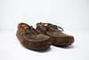 Minnetonka Men's #718 Chocolate Brown Driving Moccasin Size 11.5