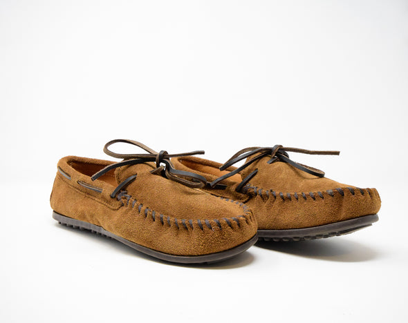 Minnetonka Men's Dusty Brown Suede Classic Moc Moccasin Shoes #913