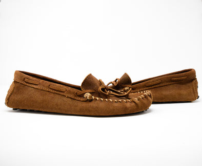 Minnetonka Men's #793 Original Cowhide Driving Moccasin in Brown Ruff Sz 11