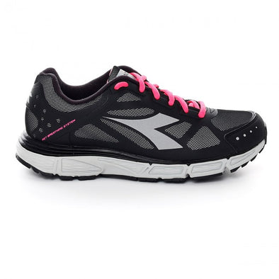 DIADORA N-4100-2 W WIN Bright Black/Silver Athletic Running Sneakers Women's Size 7