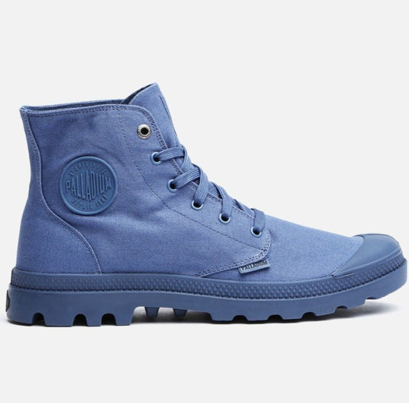 PALLADIUM Mono Chrome Unisex Lace Up Ankle Hiking Boots in Dust Blue