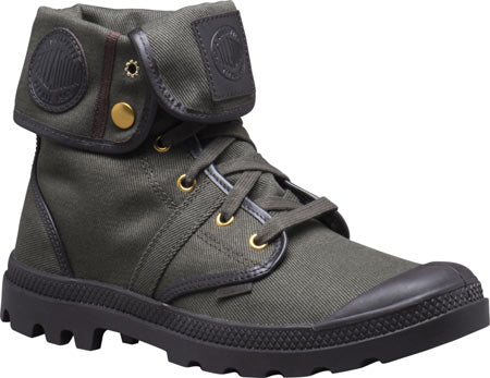 PALLADIUM Pallabrouse Baggy TW Men's Canvas Combat Hiking Boots in Army Green/After Dark