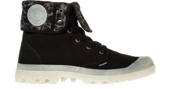 PALLADIUM Baggy Black/Tie Dye/Glow Men's Lace Up Fold Over Combat Hiking Boots