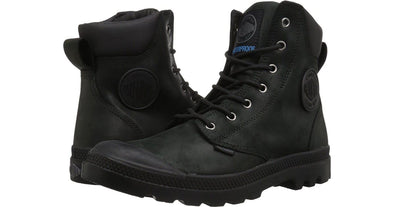 PALLADIUM Pampa Cuff WP Lux Unisex Suede Lace Up Ankle Hiking Combat Boots in Black