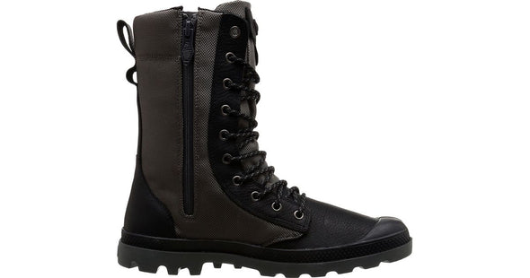 PALLADIUM Tactical WPN Zip Black/Metal Men's Combat Hiking Boots