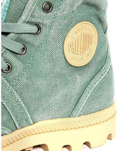 Palladium Pallabrouse Men's Lace-Up Hiking Boots in Hedge Green