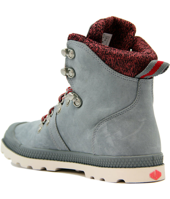 Palladium Pallabrouse Hikr LP Women's Monument/CRL/Marshmallow Suede Ankle Hiking Boots