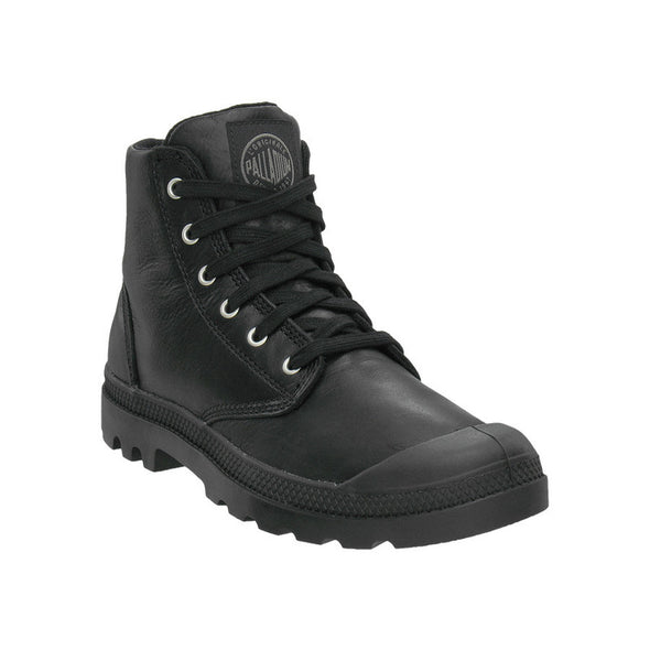 Palladium Pampa Hi Leather Men's Black Ankle Chukka Combat Hiking Boots