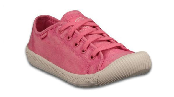 Palladium Flex Lace Women's Pink Lemonade/Marshmallow Low Top Canvas Sneakers