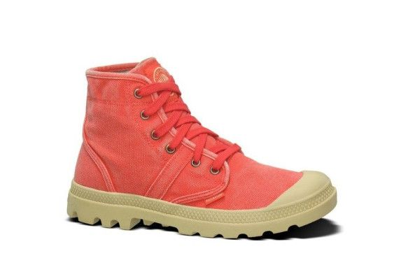 PALLADIUM Pallabrouse Cayenne Red Men's Lace Up Ankle Hiking Boots