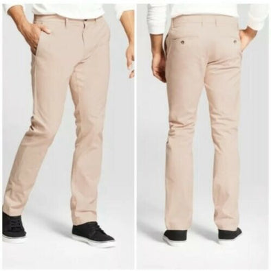 Goodfellow & Co Men's Skinny Fit Hennepin Chino Pants Pale Peach Color