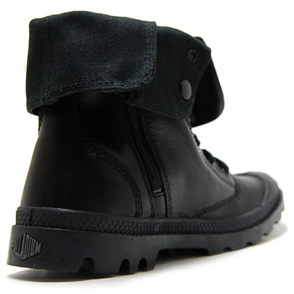 Baggy Leather M Zip Black/Metal Women's Fold Down Lace Up Hiking Combat Boots