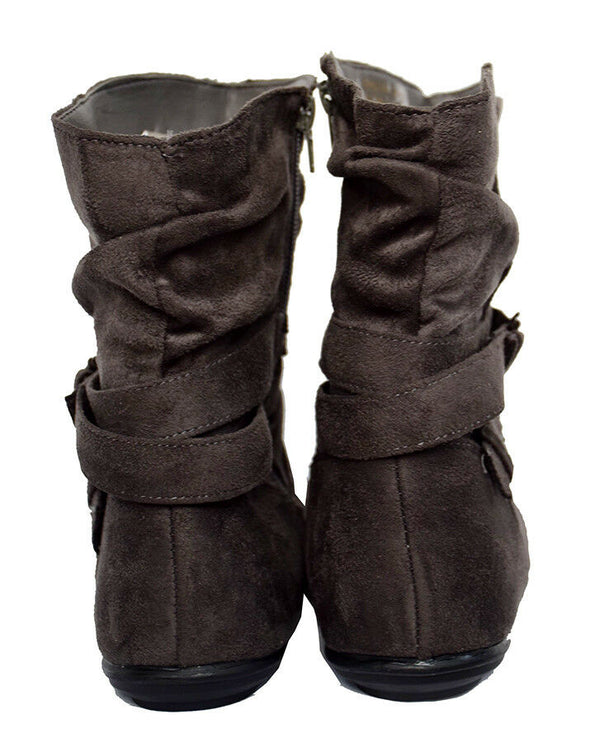 OLIVE STREET Black Ruched Microsuede Jones Boot Women's Size 10