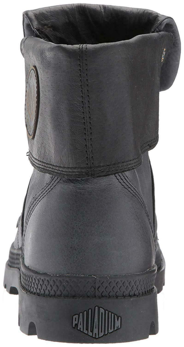 New with Defects PALLADIUM Pallabrouse Baggy L2 Women's Foldover Gray/Black Lace Up Boots