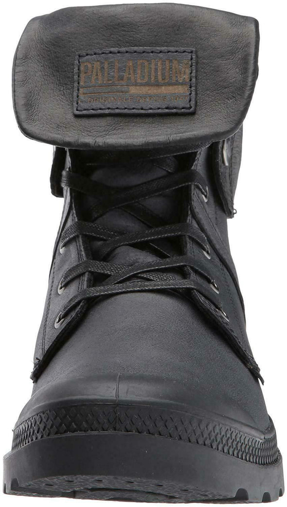 PALLADIUM Pallabrouse Baggy L2 Men's Foldover Gray/Black Lace Up Boots