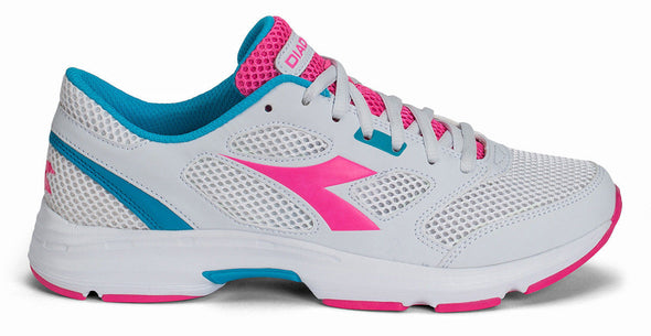 DIADORA Donna Shape 7 White/Pink/Blue Athletic Running Sneakers Women's Size 7