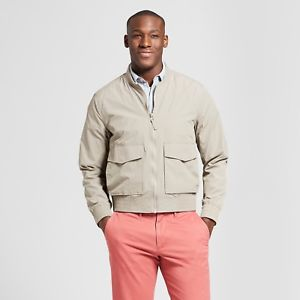 Goodfellow & Co. Men's Water Resistant Bomber Jacket in Gray Stone