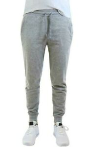Verde Men's Light Grey Cuffed Jogger Sweatpants