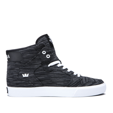 Supra Vaider Men's Hi-Top Skate Boarding Sneaker in Multi/Black-White
