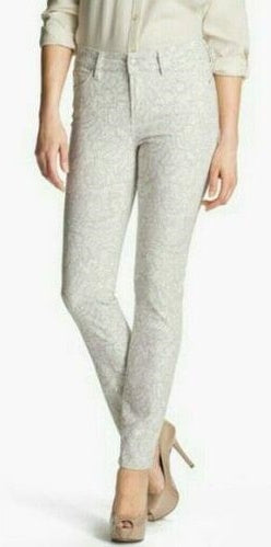 NYDJ Not Your Daughters Jeans Creme Grey Floral Women's Petite Leggings