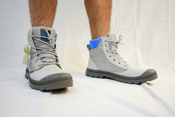 PALLADIUM Pampa Sport Cuff WPN Vapor/Metal/Blue Men's Lace Up Ankle Hiking Combat Boots