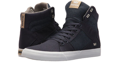 Supra Aluminum Men's Navy/Mojave-White Athletic High Top Skate Boarding Sneakers