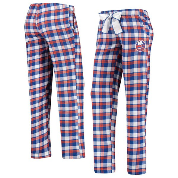 Sideline Apparel Officially Licensed Ladies NHL Fanwear New York NY ISLANDERS Plaid Pajama Pants